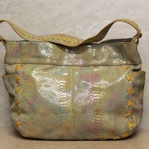 Hobo International Yellow Python Bag
